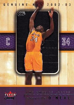 2002-03 Fleer Genuine #1 Shaquille O'Neal Front