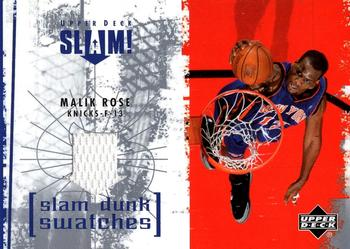 2005-06 Upper Deck Slam - Slam Dunk Swatches #SL-MR Malik Rose Front