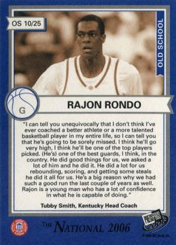 2006 Press Pass - National VIP Promos #10 Rajon Rondo Back