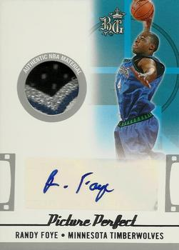 2006-07 Topps Big Game - Picture Perfect Patches Autographs #PPPA-RF Randy Foye Front