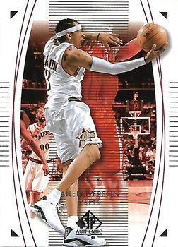 2003-04 SP Authentic #64 Allen Iverson Front