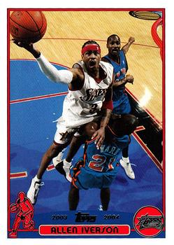 2003-04 Topps #3 Allen Iverson Front