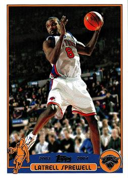 2003-04 Topps #25 Latrell Sprewell Front