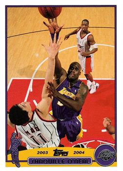 2003-04 Topps #34 Shaquille O'Neal Front