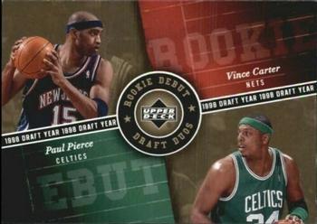 2006-07 Upper Deck Rookie Debut - Draft Duos #DD-PC Paul Pierce / Vince Carter Front
