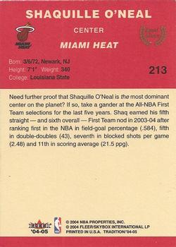 2004-05 Fleer Tradition #213 Shaquille O'Neal Back