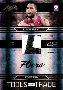 2009-10 Panini Absolute Memorabilia - Tools of the Trade Materials Prime Black Spectrum #9 Elton Brand Front
