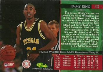 1995 Classic - Autograph Edition Silver Signatures #33 Jimmy King Back