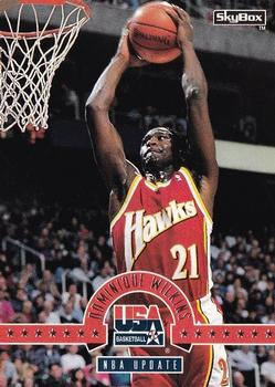 1994 SkyBox USA #34 Dominique Wilkins Front