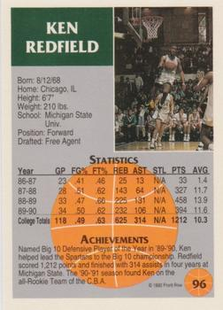 1990 Collegiate Collection #158 Ken Redfield basketball card Michigan State