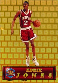 1994 Pacific Prisms - Gold #25 Eddie Jones Front