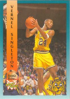 1992 Front Row Draft Picks 60 Vernel Singleton