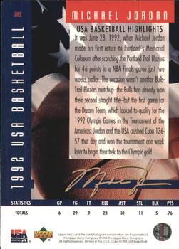 1994 Upper Deck USA - Jordan's Highlights #JH2 Michael Jordan Back