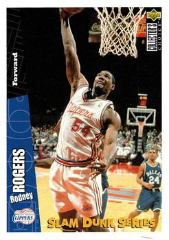 1996 Upper Deck Slam Dunk Series #13 Rodney Rogers Front