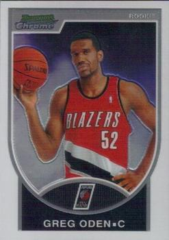 5bed24b0690 2007-08 Bowman - Chrome  152 Greg Oden Front
