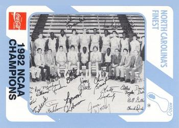 1989 Collegiate Collection North Carolina's Finest #200 1982 NCAA Champions Front