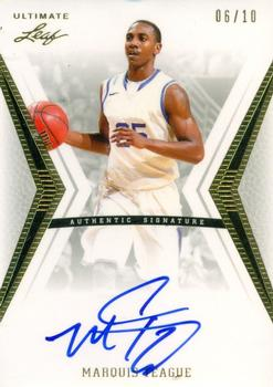 2012 Leaf Ultimate Draft - Gold #BA-MT1 Marquis Teague Front