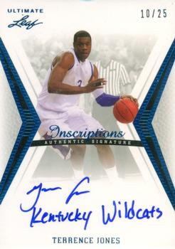 2012 Leaf Ultimate Draft - Inscriptions #BA-TJ1 Terrence Jones Front