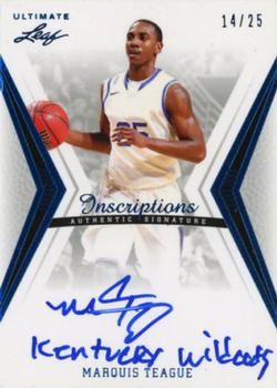 2012 Leaf Ultimate Draft - Inscriptions #BA-MT1 Marquis Teague Front