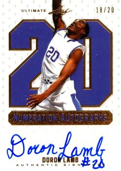 2012 Leaf Ultimate Draft - Numeration #NU-DL2 Doron Lamb Front