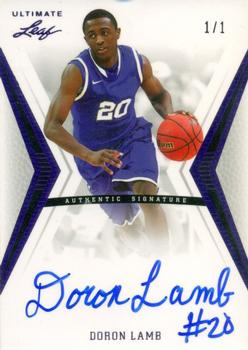2012 Leaf Ultimate Draft - Purple #BA-DL2 Doron Lamb Front