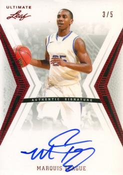 2012 Leaf Ultimate Draft - Red #BA-MT1 Marquis Teague Front