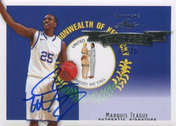 2012 Leaf Ultimate Draft - State Pride Silver #SP-MT1 Marquis Teague Front