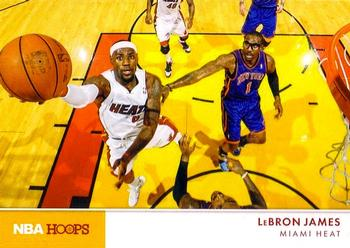 2012-13 Hoops - Action Photos #3 LeBron James Front