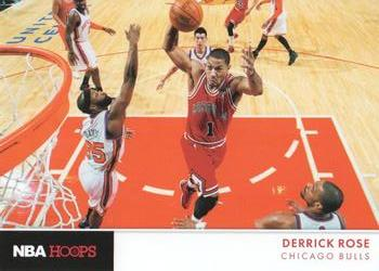 2012-13 Hoops - Action Photos #7 Derrick Rose Front