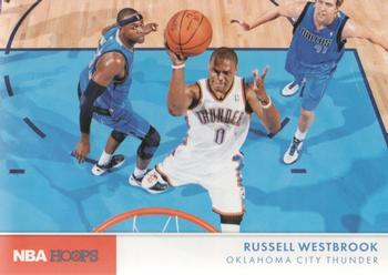 2012-13 Hoops - Action Photos #10 Russell Westbrook Front