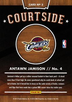 2012-13 Hoops - Courtside #3 Antawn Jamison Back