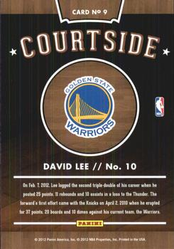 2012-13 Hoops - Courtside #9 David Lee Back
