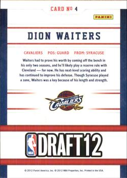 2012-13 Hoops - Draft Night #4 Dion Waiters Back