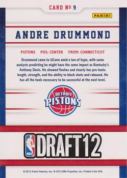 2012-13 Hoops - Draft Night #9 Andre Drummond Back