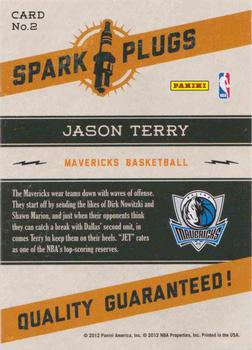 2012-13 Hoops - Spark Plugs #2 Jason Terry Back