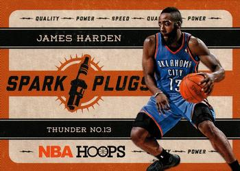 2012-13 Hoops - Spark Plugs #1 James Harden Front
