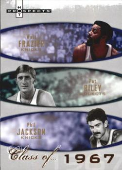 2007-08 Fleer Hot Prospects - Class of... #1967 Phil Jackson / Pat Riley / Walt Frazier Front