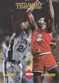 1996 Collector's Edge Rookie Rage #P1 Antoine Walker / Moses Malone Front