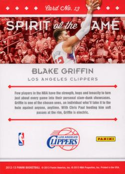 2012-13 Panini - Spirit of the Game #13 Blake Griffin Back
