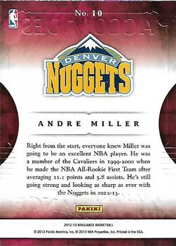 2012-13 Panini Brilliance - Accolades #10 Andre Miller Back