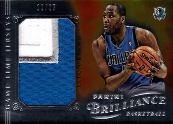 2012-13 Panini Brilliance - Game Time Jerseys Prime #47 Elton Brand Front
