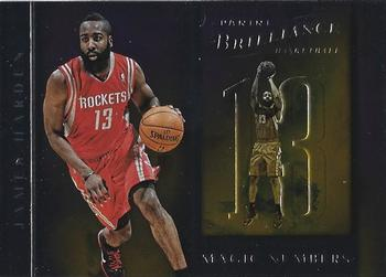 2012-13 Panini Brilliance - Magic Numbers #4 James Harden Front