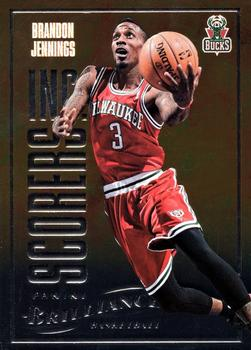 2012-13 Panini Brilliance - Scorers Inc. #2 Brandon Jennings Front