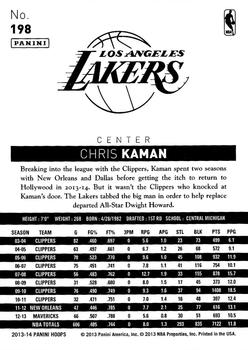2013-14 Hoops #198 Chris Kaman Back