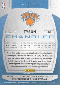 2013-14 Panini Totally Certified #70 Tyson Chandler Back