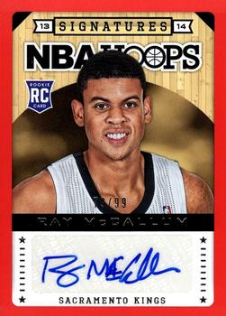 2013-14 Hoops - Signatures Red #174 Ray McCallum Front
