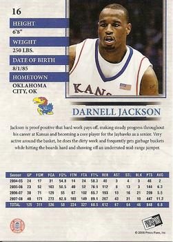 2008 Press Pass #16 Darnell Jackson Back