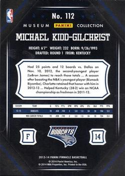 2013-14 Pinnacle - Museum Collection #112 Michael Kidd-Gilchrist Back