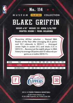 2013-14 Pinnacle - Museum Collection #114 Blake Griffin Back