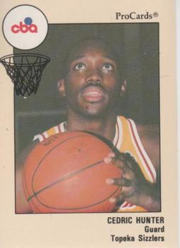 1989-90 ProCards CBA #167 Cedric Hunter Front